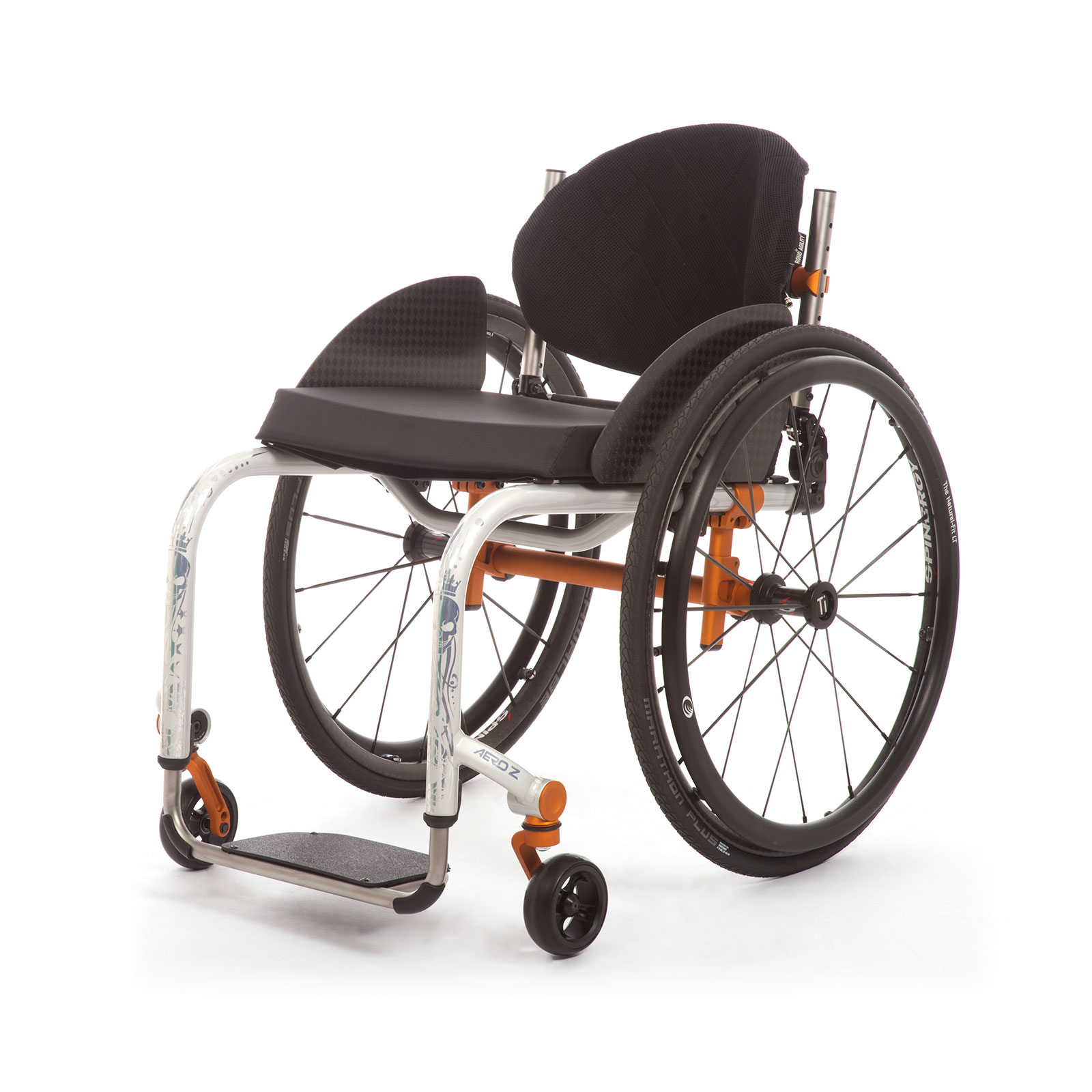 The Left Front of Wheelchair.