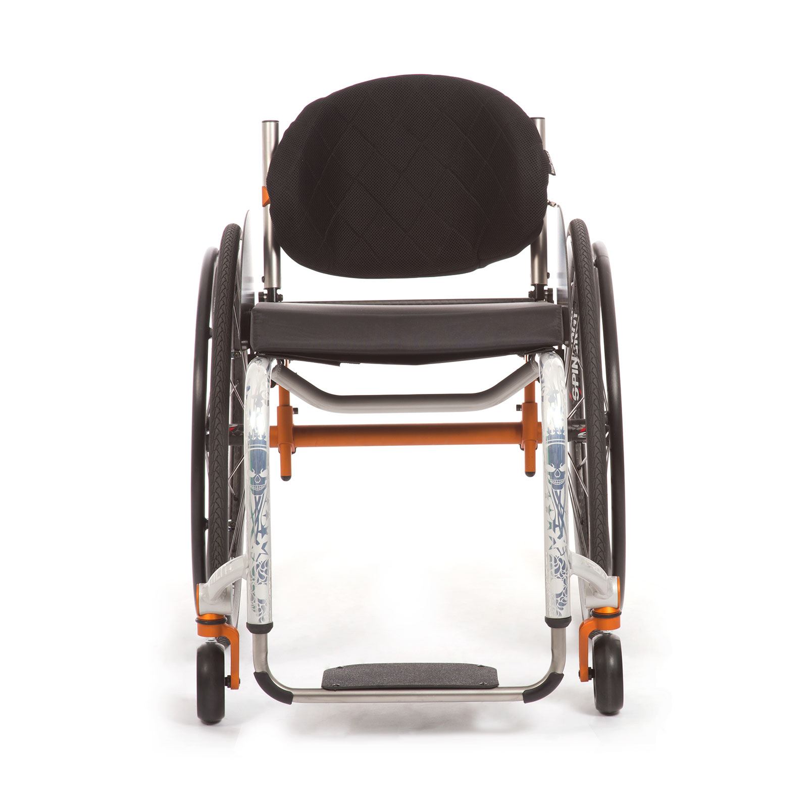 The Front of Wheelchair with a lighter weight.