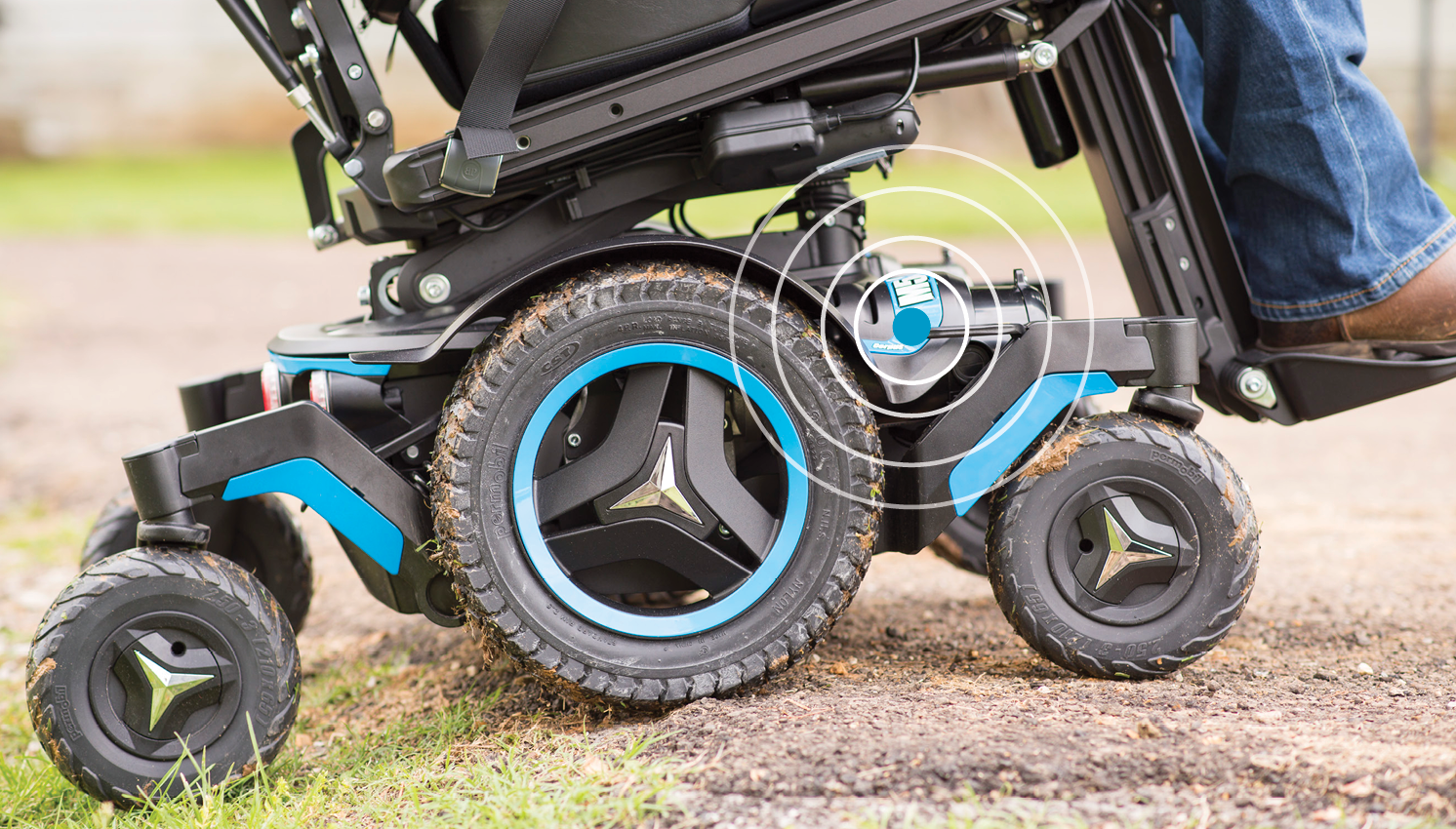 The Midwheel drive power wheelchair with tilt-in-space capability.