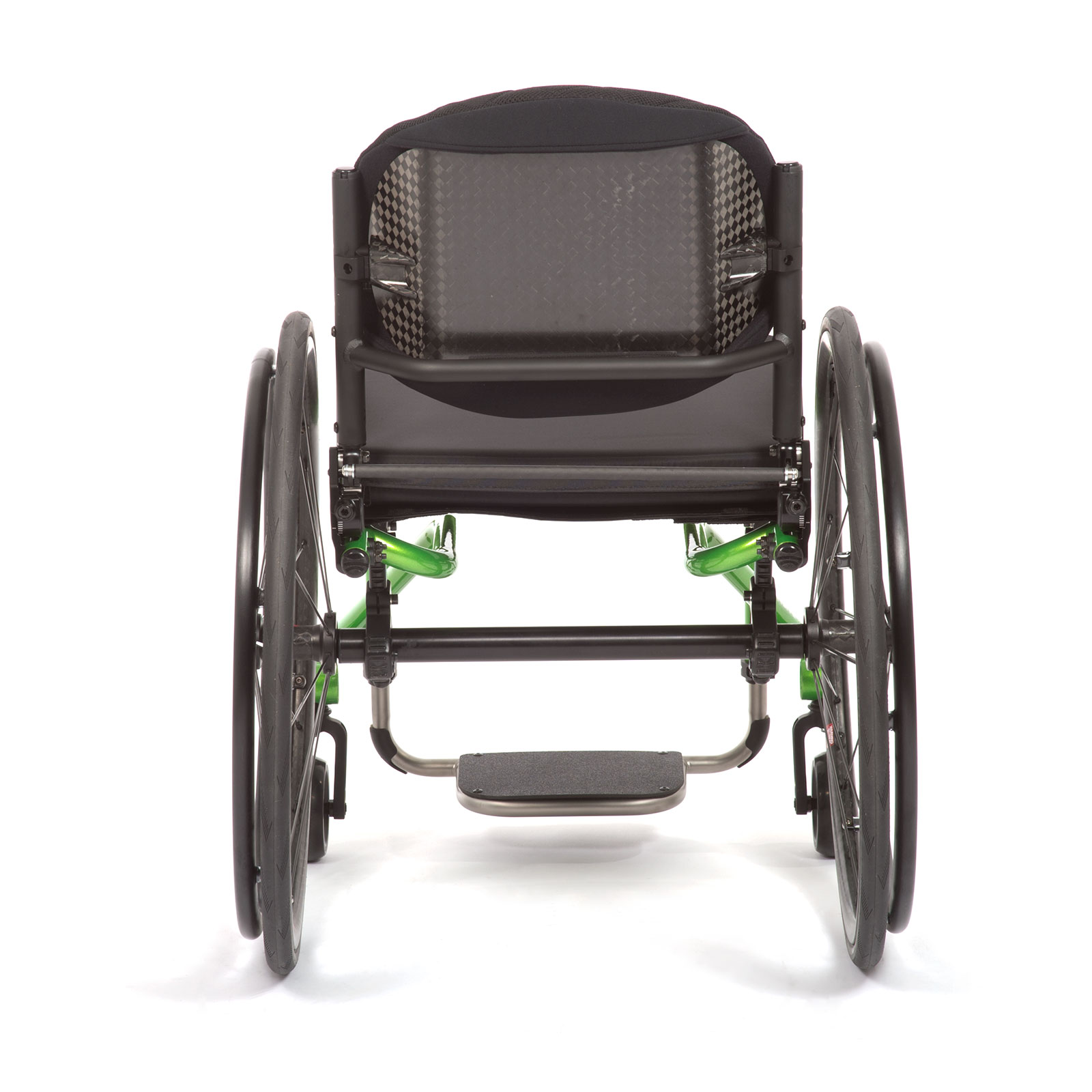 The Back acid green of the Wheelchair.