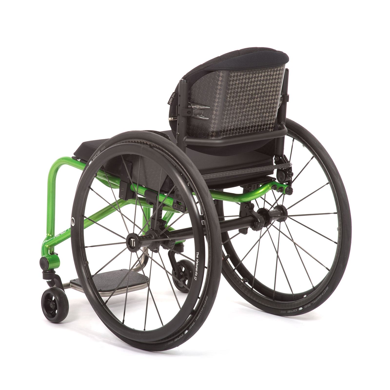 The Back Left acid green of the Wheelchair