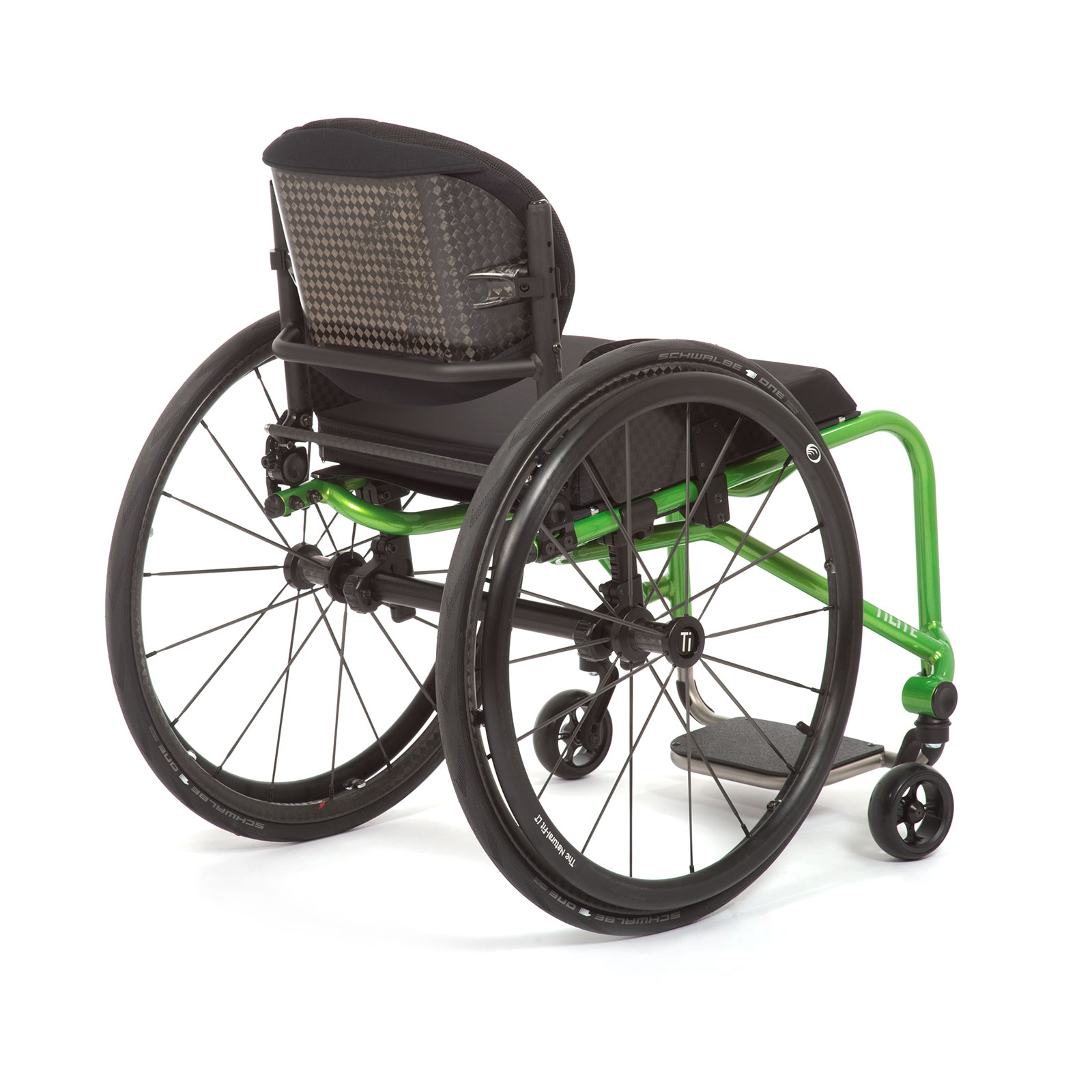The Back Right acid green of the Wheelchair.