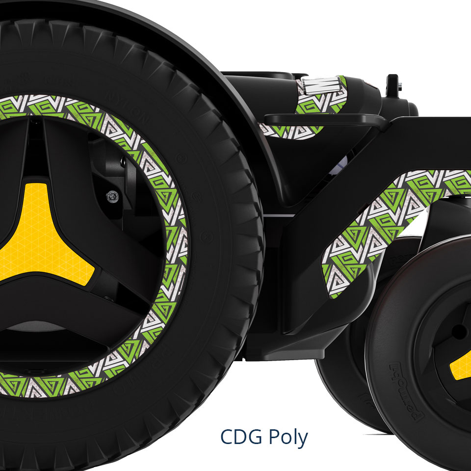The CDG Poly Mid wheel power wheelchair.