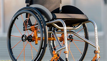 The Right Mid-Side of the Wheelchair