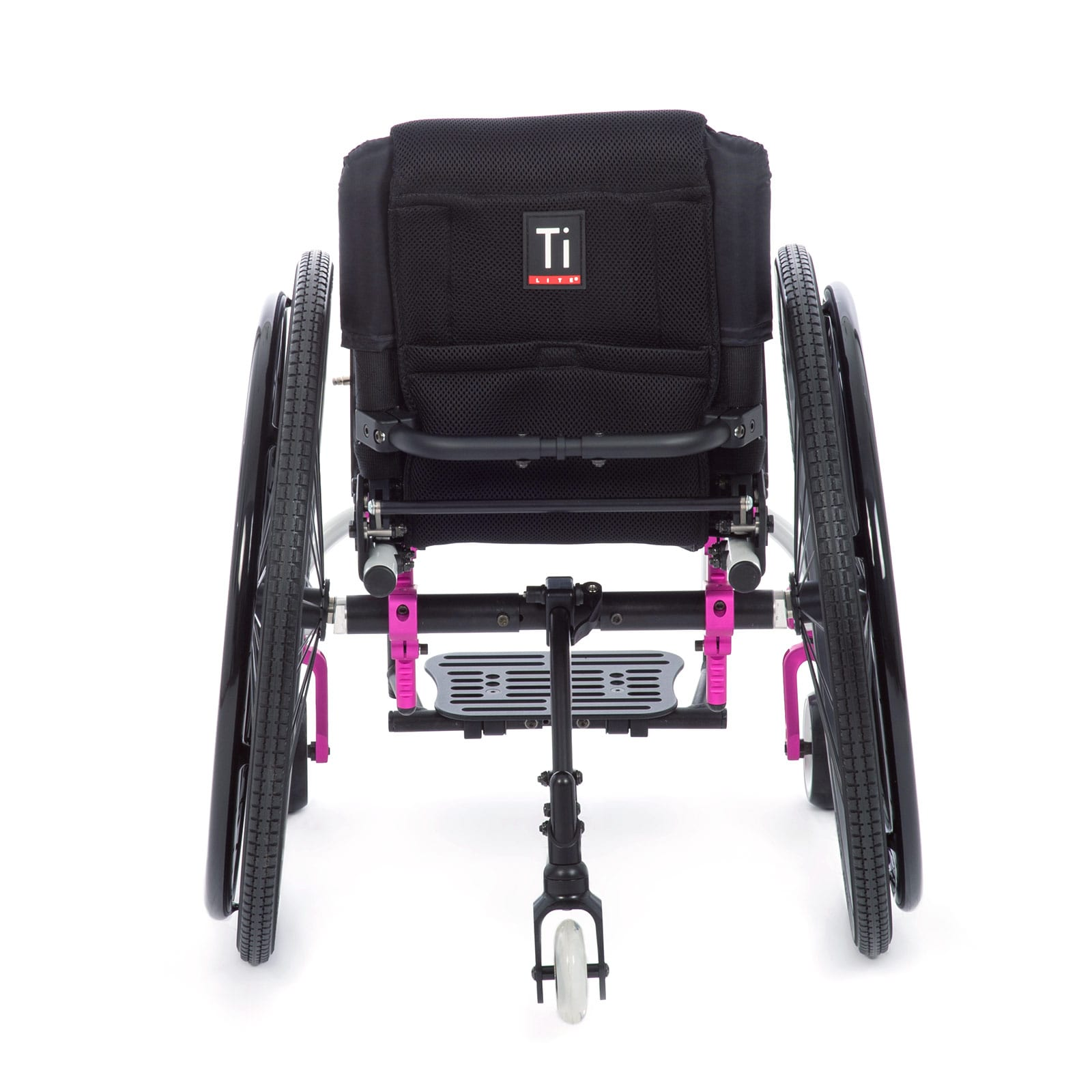 The Pink Full Back view of the Wheelchair