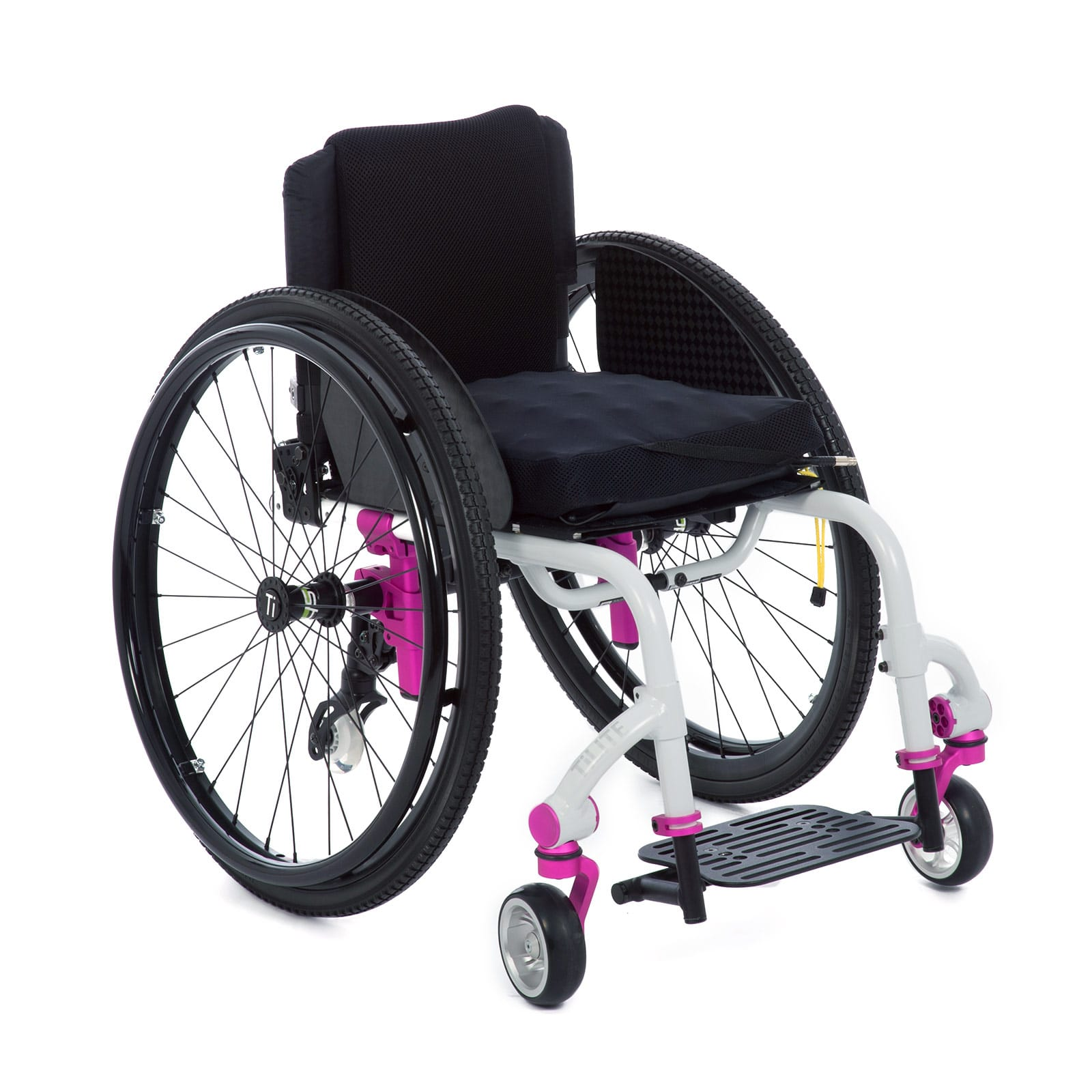 White-Pink Mid-Right of the Wheelchair