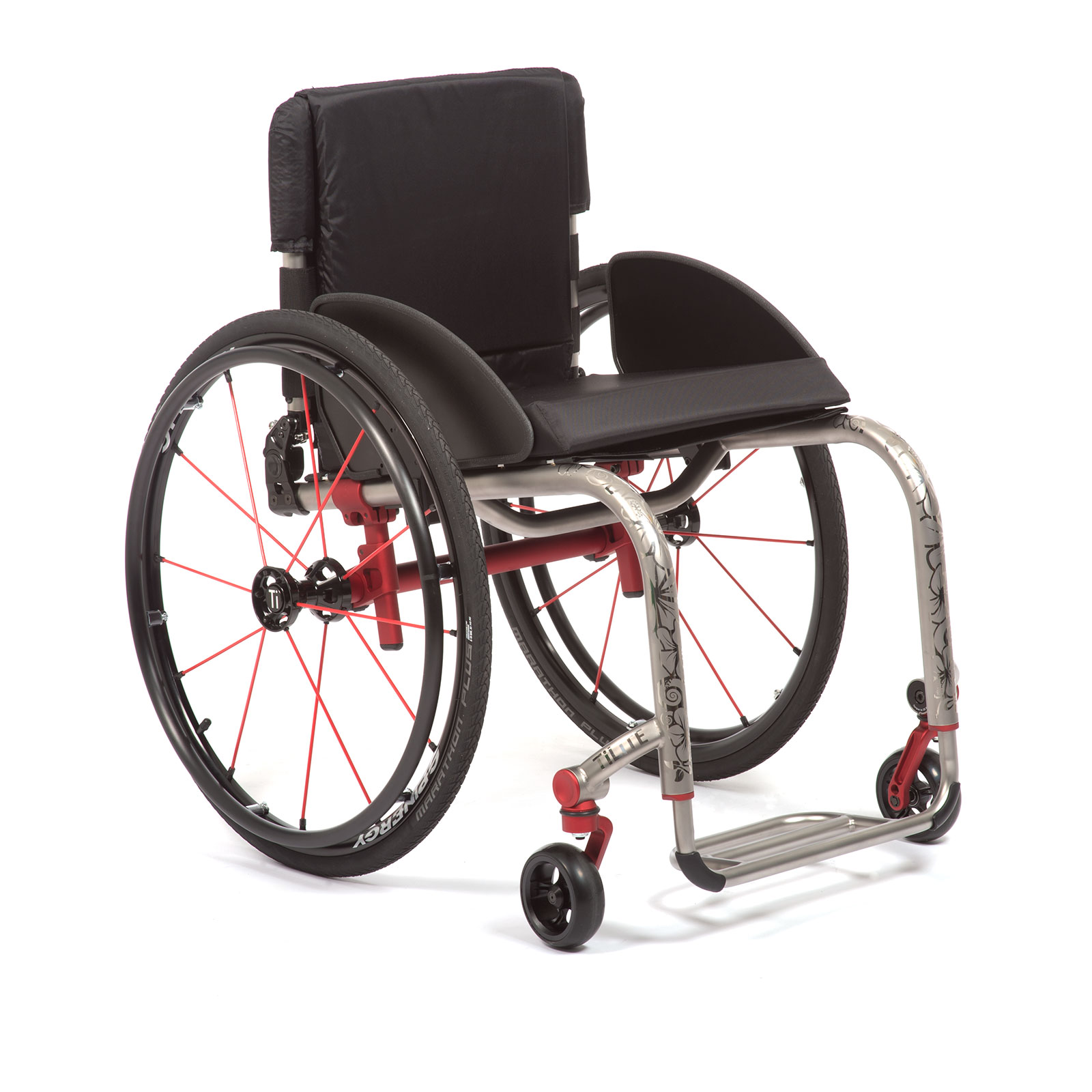 The Front Mid-Right of the Wheelchair