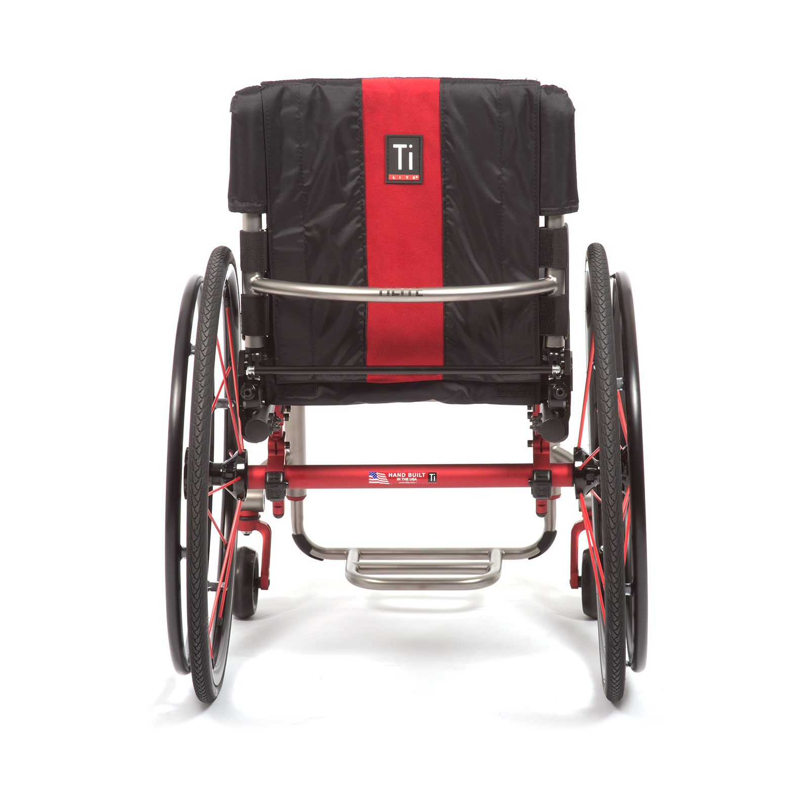 Back view of Red Wheelchair