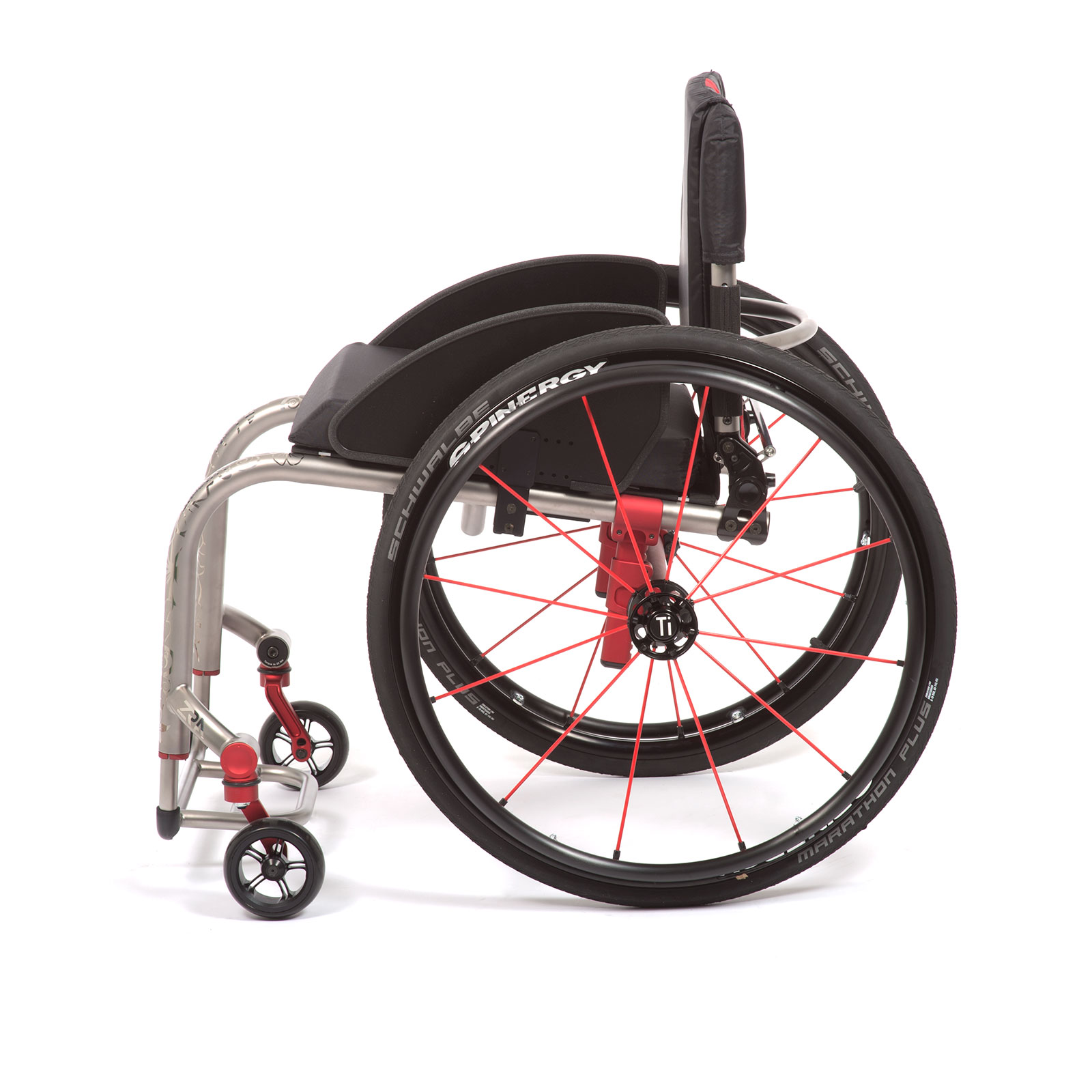 The Left side of Red Wheelchair
