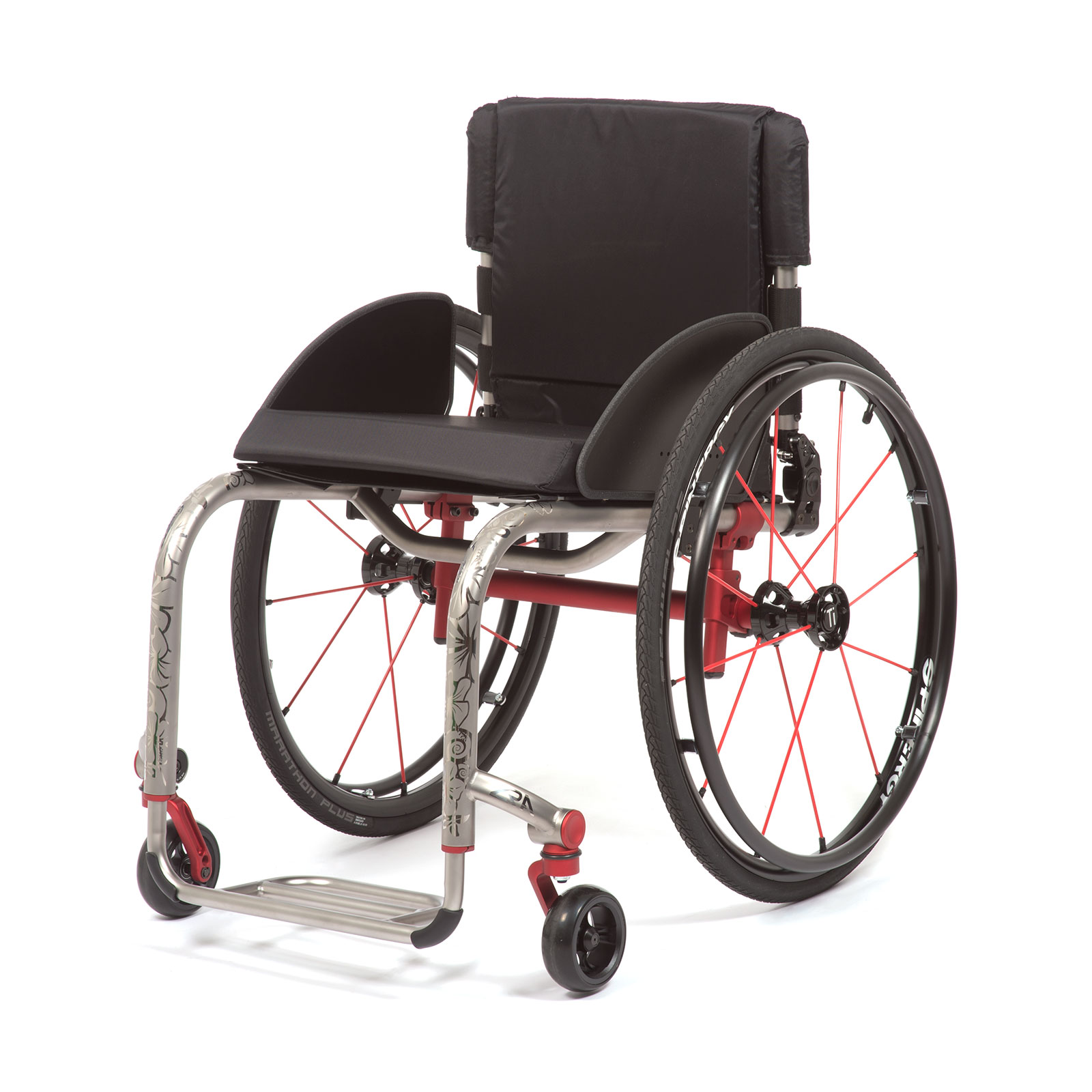 The Left Mid-Front of the Wheelchair