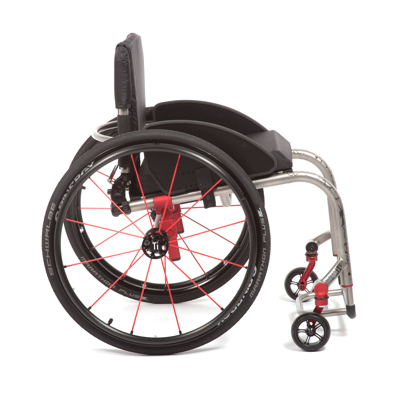 The Right Side of Red Wheelchair