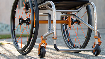 A Lower part of the manual wheelchair