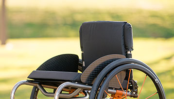 A Left-Side of upper part of the Wheelchair.