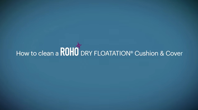 A question on how to clean a ROHO DRY FLOTATION of Cushion and Cover.