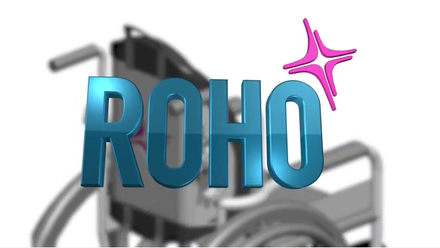 A Wheelchair with a ROHO logo