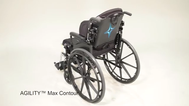 The left Mid-Back view of Agility Max Contour Wheelchair