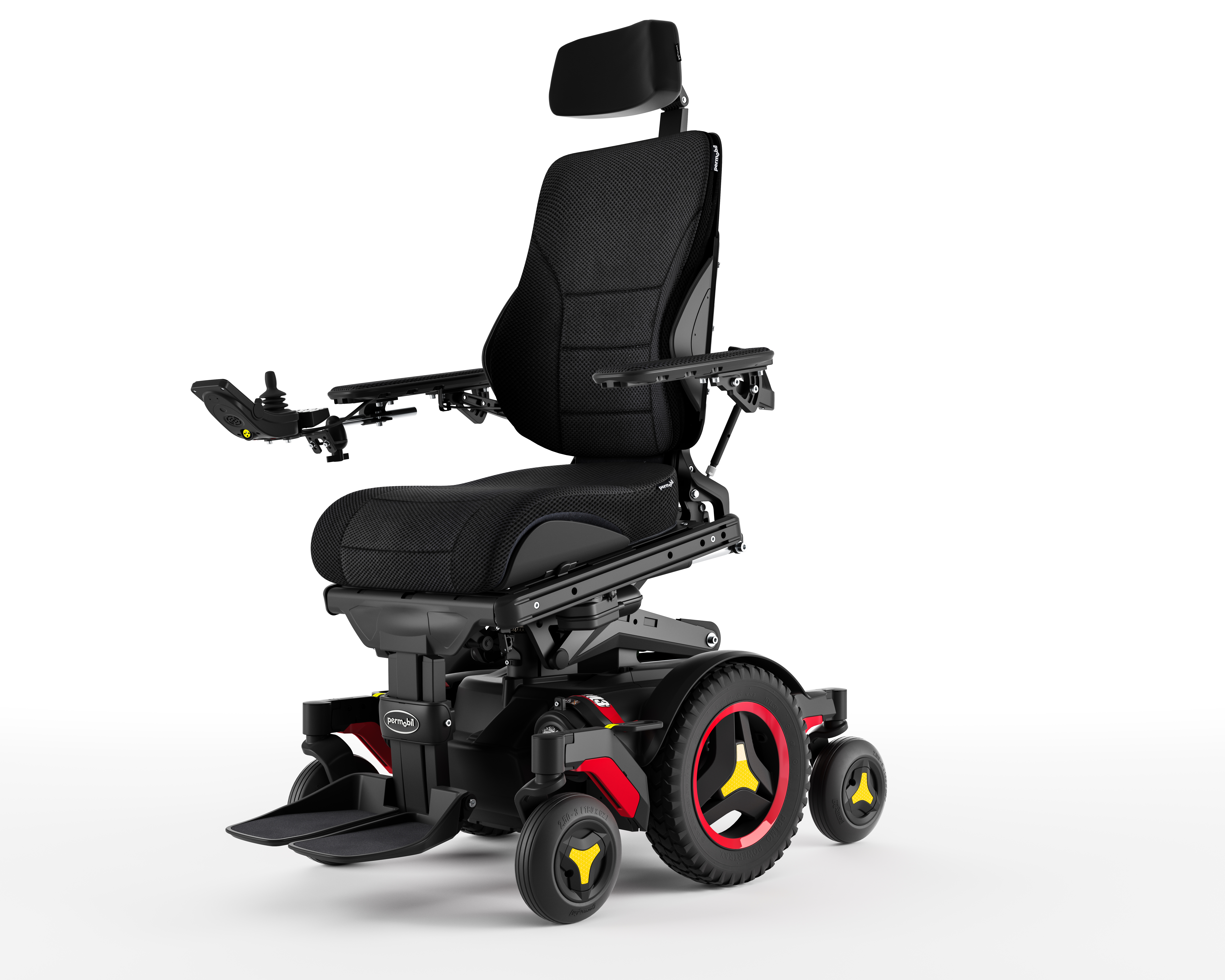 The Mid-Left standard view Power Wheelchair.