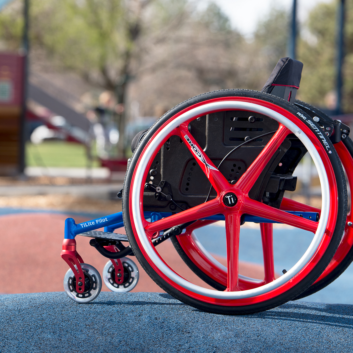 TiLite Pilot Pediatric Youth Wheelchair.