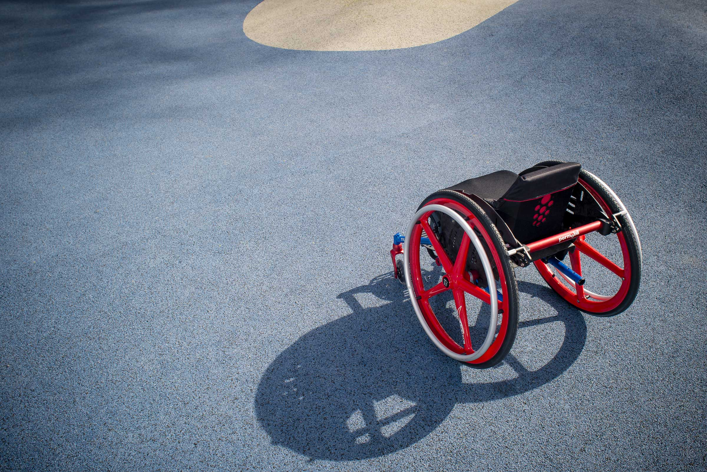 Rear Top view of TiLite Pilot Wheelchair with the shadow