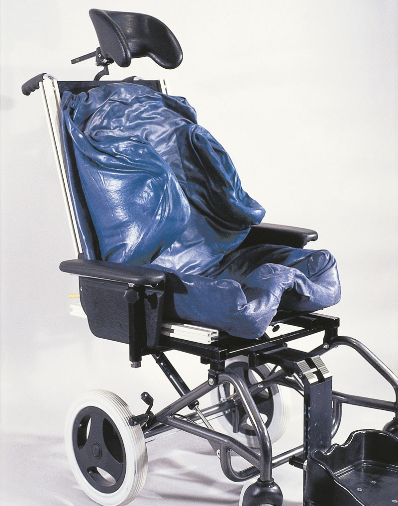 A Right Mid-Front of the Tru-Shape Wheelchair.
