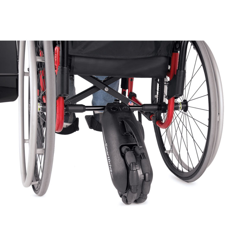 A smart drive MX2 connect to the wheelchair