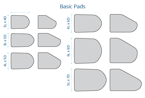 Basic Pads of BodiLink Lateral Trunk Support